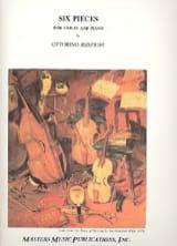 Ottorino Respighi - 6 Pièces - Partition - di-arezzo.fr