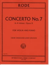 Pierre Rode - Concerto No. 7 op. 9 the minor - Sheet Music - di-arezzo.com