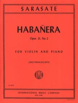 Habanera op. 21 n° 2 Pablo de Sarasate Partition laflutedepan.com