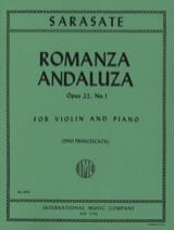 Pablo de Sarasate - Romanza Andaluza op. 22 n ° 1 - Sheet Music - di-arezzo.co.uk