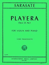 Pablo de Sarasate - Playera op. 23 n ° 1 - Sheet Music - di-arezzo.co.uk