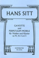 Hans Sitt - Gavotte op. 95 n° 4 et Perpetuum Mobile op. 95 n° 5 - Partition - di-arezzo.fr