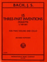 Johann Sebastian Bach - 15 Three-part inventions – 2 Violins cello - Parts - Partition - di-arezzo.fr
