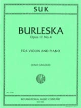 Burleska op. 17 n° 4 Josef Suk Partition Violon - laflutedepan