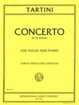 Concerto in D minor Giuseppe Tartini Partition laflutedepan.com