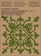 Giuseppe Tartini - Sonata Didone abbandonata op. 1 n ° 10 in minor soil - Sheet Music - di-arezzo.co.uk