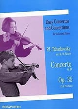 TCHAIKOVSKY - Violin Concerto D major op. 35 1st pos. - Sheet Music - di-arezzo.co.uk