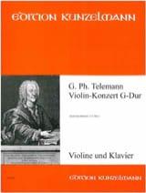 Violin-Konzert G-Dur TELEMANN Partition Violon - laflutedepan.com