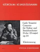 Carlo Tessarini - Concerto D-dur op. 1 n° 4 - Partition - di-arezzo.fr