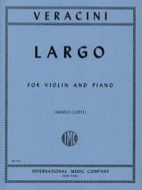 Largo - Violin Francesco Maria Veracini Partition laflutedepan.com