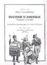 Henri Vieuxtemps - Souvenir d'Amérique - Partition - di-arezzo.fr