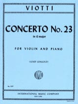 Giovanni Battista Viotti - Concerto No. 23 in G Major - Sheet Music - di-arezzo.com