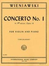 WIENIAWSKI - Concerto No. 1 in F sharp minor op. 14 - Violin - Sheet Music - di-arezzo.co.uk