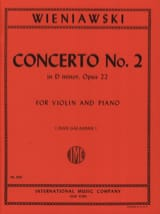 WIENIAWSKI - Concerto No. 2 D minor op. 22 - Violin - Sheet Music - di-arezzo.co.uk