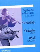 Concerto si mineur op. 35 - Violoncelle Oscar Rieding laflutedepan.com