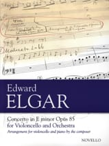 ELGAR - Cello Concerto Op. 85 - Sheet Music - di-arezzo.co.uk