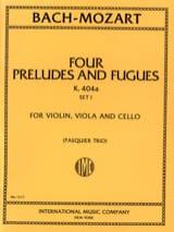 Bach Johann Sebastian / Mozart Wolfgang Amadeus - 4 Préludes et Fugues KV 404 a, Set 1 –Trio - Parts - Partition - di-arezzo.fr