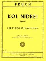 Kol Nidrei op. 47 - String bass Max Bruch Partition laflutedepan.com
