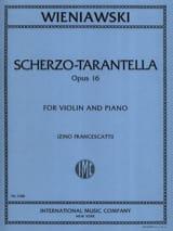 WIENIAWSKI - Scherzo-Tarantella op. 16 - Partition - di-arezzo.fr