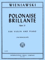 WIENIAWSKI - Polish Brillante Op. 21 In the Major - Sheet Music - di-arezzo.co.uk