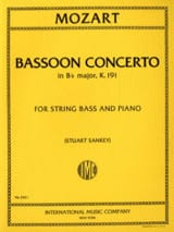 MOZART - Concerto In B Flat Maj. Kv 191 Transcribed For Double Bass - Sheet Music - di-arezzo.com