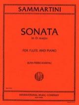 Sonata in D major - Flûte piano SAMMARTINI Partition laflutedepan.com