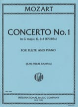 MOZART - Concerto n° 1 G major KV 313 - Flute piano - Partition - di-arezzo.fr