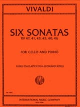 VIVALDI - 6 Sonatas - Cello - Sheet Music - di-arezzo.com