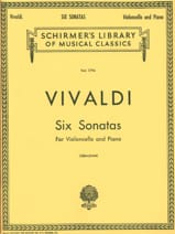 6 Sonates - Violoncelle VIVALDI Partition laflutedepan.com