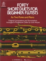 - Forty short duets for beginner flutists - 2 Flute piano - Partition - di-arezzo.fr