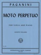 Moto perpetuo - Viola Niccolò Paganini Partition laflutedepan.com