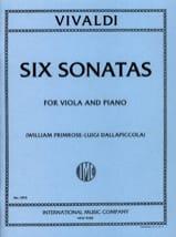 6 Sonatas – Viola Antonio Vivaldi Partition Alto - laflutedepan.com