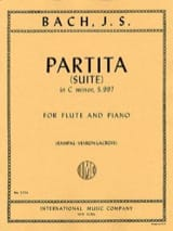 Partita (suite) in C minor - Flute piano BACH laflutedepan.com