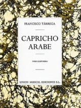 Capricho arabe Francisco Tarrega Partition Guitare - laflutedepan.com