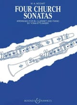 Four church sonatas MOZART Partition Clarinette - laflutedepan.com