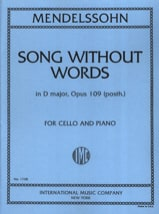 MENDELSSOHN - Song without words in D Major op. 109 posth. - Sheet Music - di-arezzo.co.uk