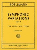 Symphonic Variations op. 23 Léon Boëllmann Partition laflutedepan.com