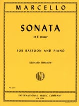 Sonata In E Minor Benedetto Marcello Partition laflutedepan.com