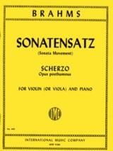 Sonatensatz - Viola BRAHMS Partition Alto - laflutedepan.com