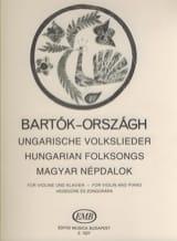 Ungarische Volkslieder – Violine Klavier - laflutedepan.com