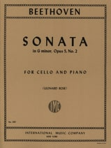 BEETHOVEN - Sonata in G minor op. 5 n ° 2 - Sheet Music - di-arezzo.com