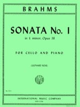 Sonata n°1 in E minor op. 38 BRAHMS Partition laflutedepan.com