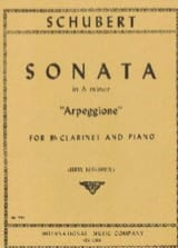 Sonata in A minor Arpeggione - Clarinet SCHUBERT laflutedepan.com