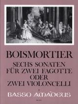 6 Sonates Opus 14 BOISMORTIER Partition Violoncelle - laflutedepan.com