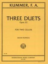 Friedrich-August Kummer - 3つのデュエット。 22 - 楽譜 - di-arezzo.jp