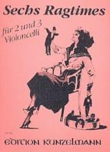 6 Ragtimes - 2 ou 3 Violoncelles laflutedepan.com