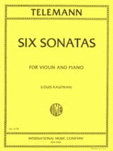 TELEMANN - 6 Sonatas - Sheet Music - di-arezzo.co.uk