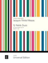 MAZAS - 12 Small Duets Op. 38 Volume 1 - Sheet Music - di-arezzo.co.uk