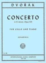 Concerto Pour Violoncelle Si Mineur, Op. 104 DVORAK laflutedepan.com
