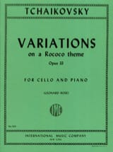 TCHAIKOVSKY - Variations On A Rococo Theme Op. 33 - Sheet Music - di-arezzo.co.uk